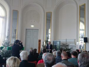 Landwirtschaftsminister Schmidt hält eine Rede im Schloss Hubertusburg anlässlich des Waldgebiet des Jahres