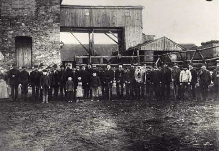 Braunkohlenwerk Gottes Segen Beierdorf, um 1900