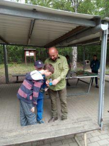Junior Ranger Ausbildung, Insektenbestimmung; Foto: L. Andrä
