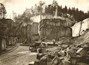 Der aktive Gleisbergbruch um 1930