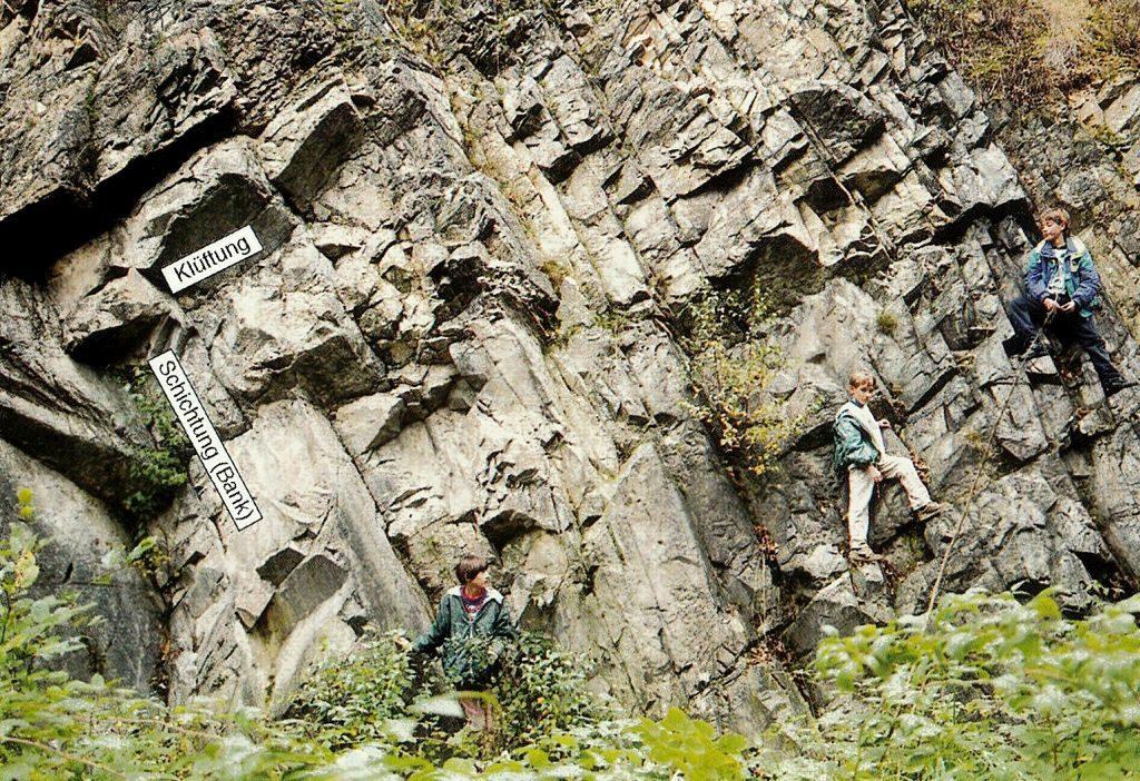 Der Steinbruch am Collmberg mit anstehender quarzitischer Grauwacke, Foto: Eißmann
