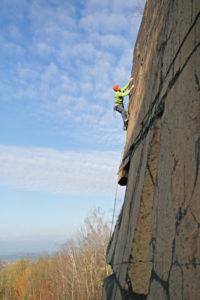 Kletterer am Gaudlitzberg, Foto: Gerald Krug