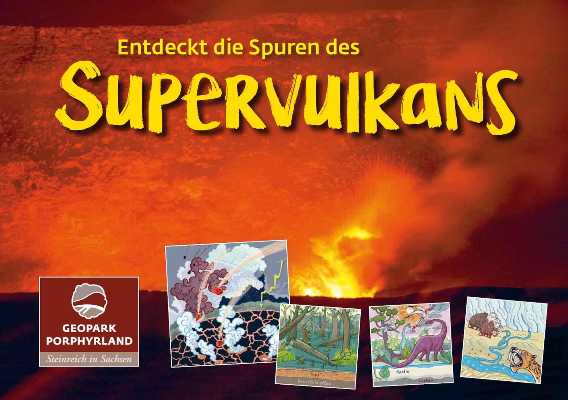 Titelbild Kinderbroschüre Entdeckt die Spuren des Supervulkans
