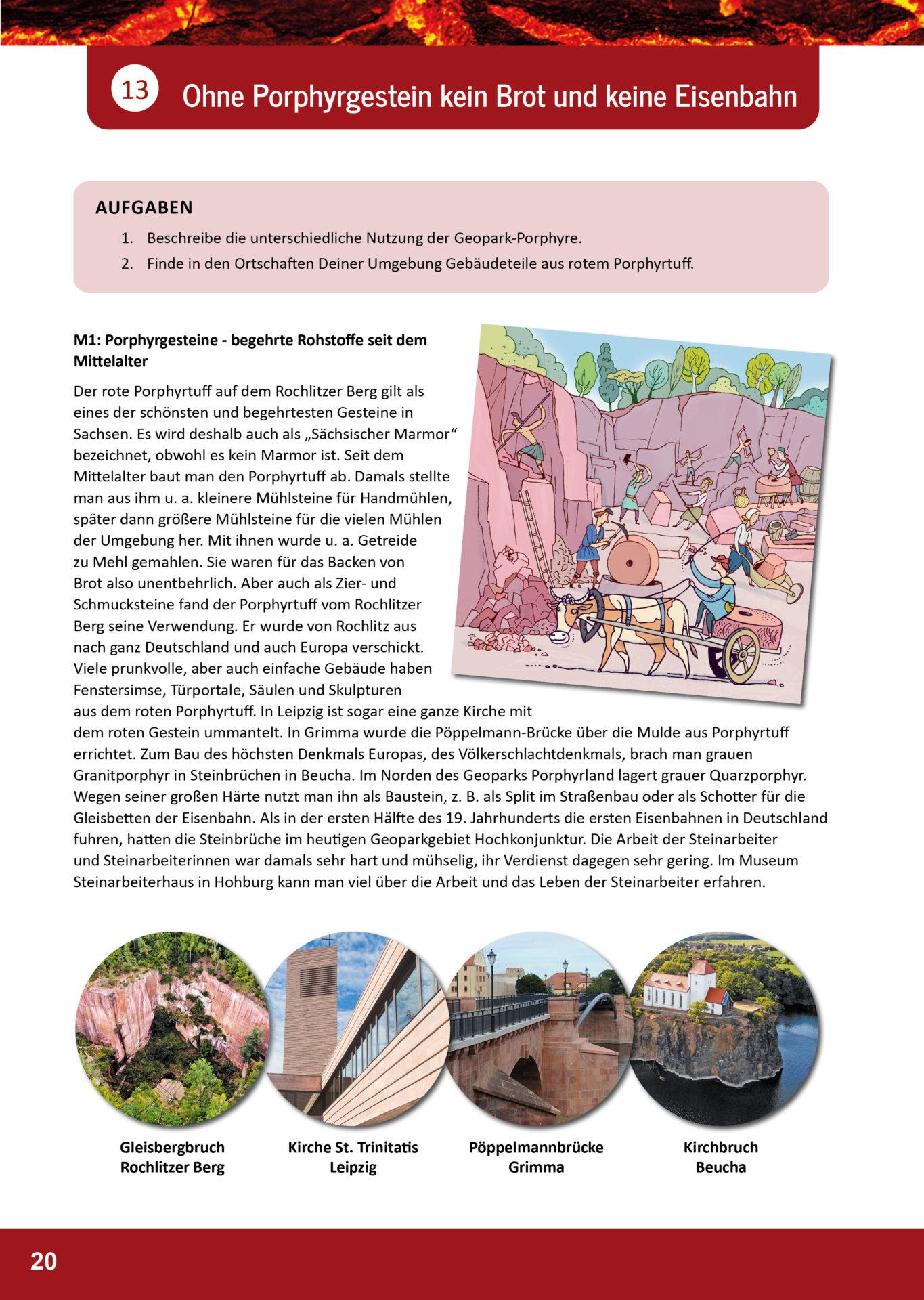 Arbeitsblatt Geopark Porphyrland 13