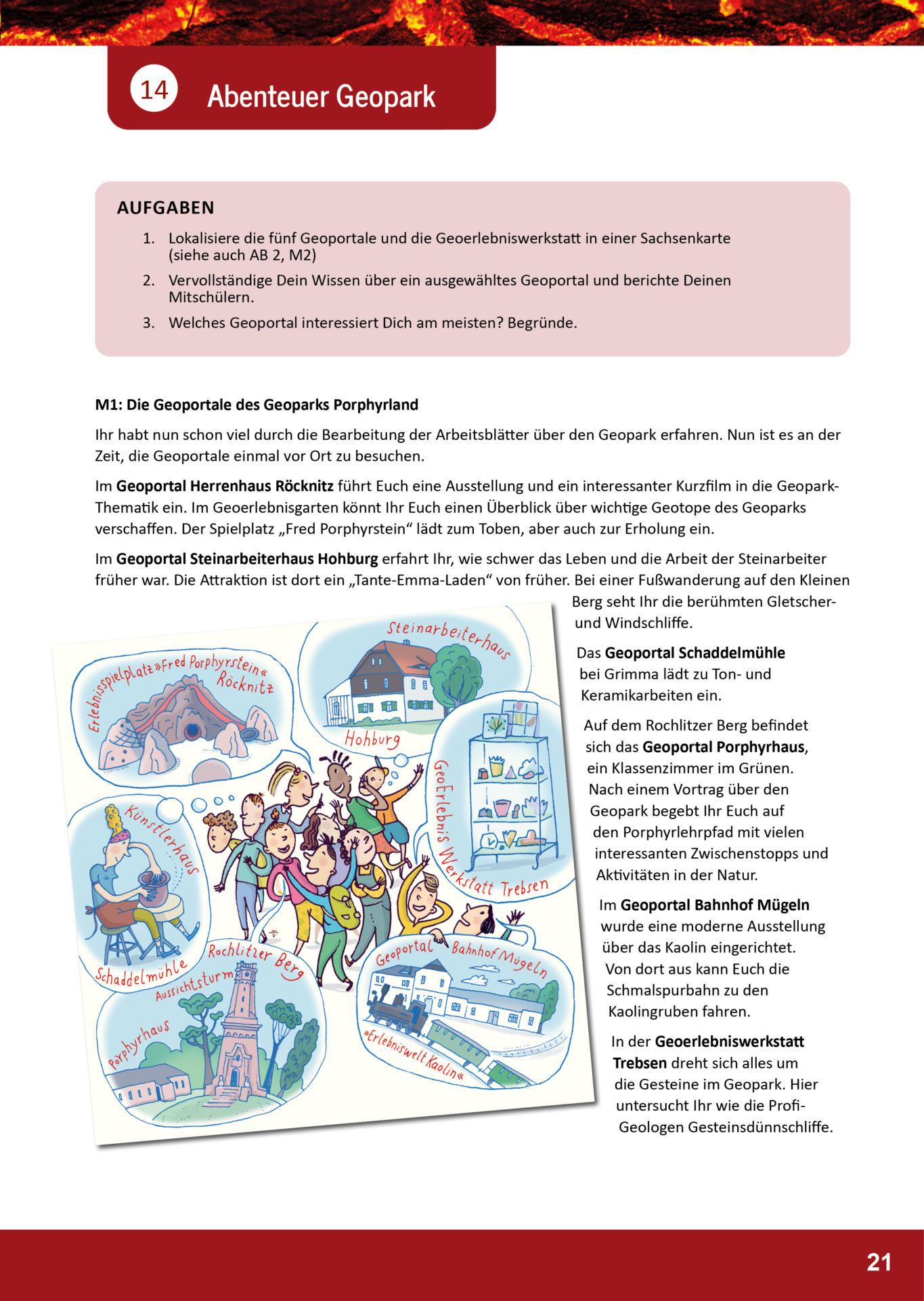 Arbeitsblatt Geopark Porphyrland 14
