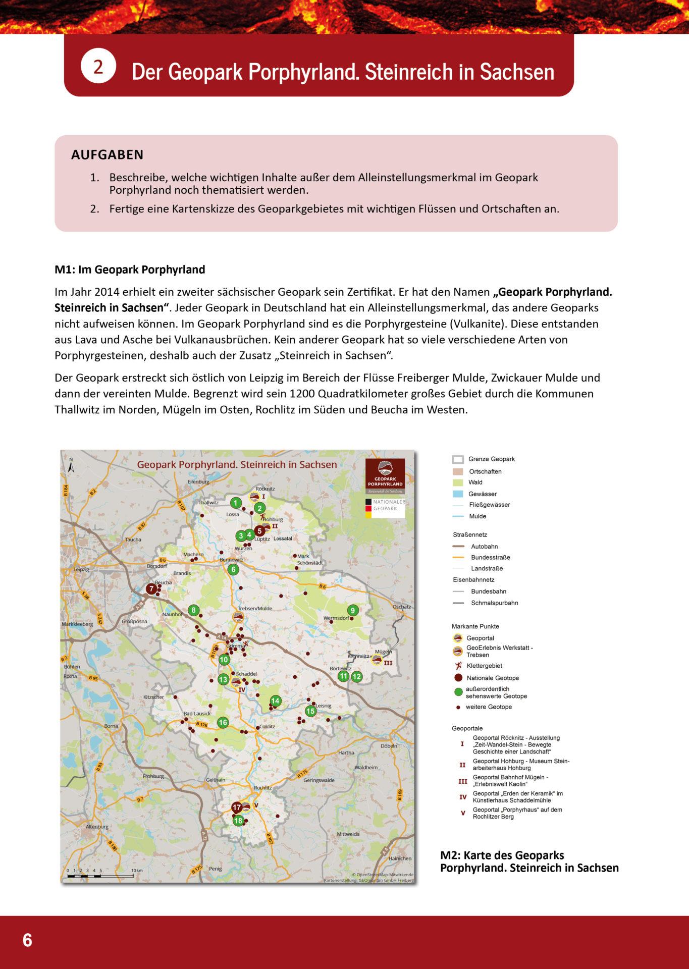 Arbeitsblatt Geopark Porphyrland 2a