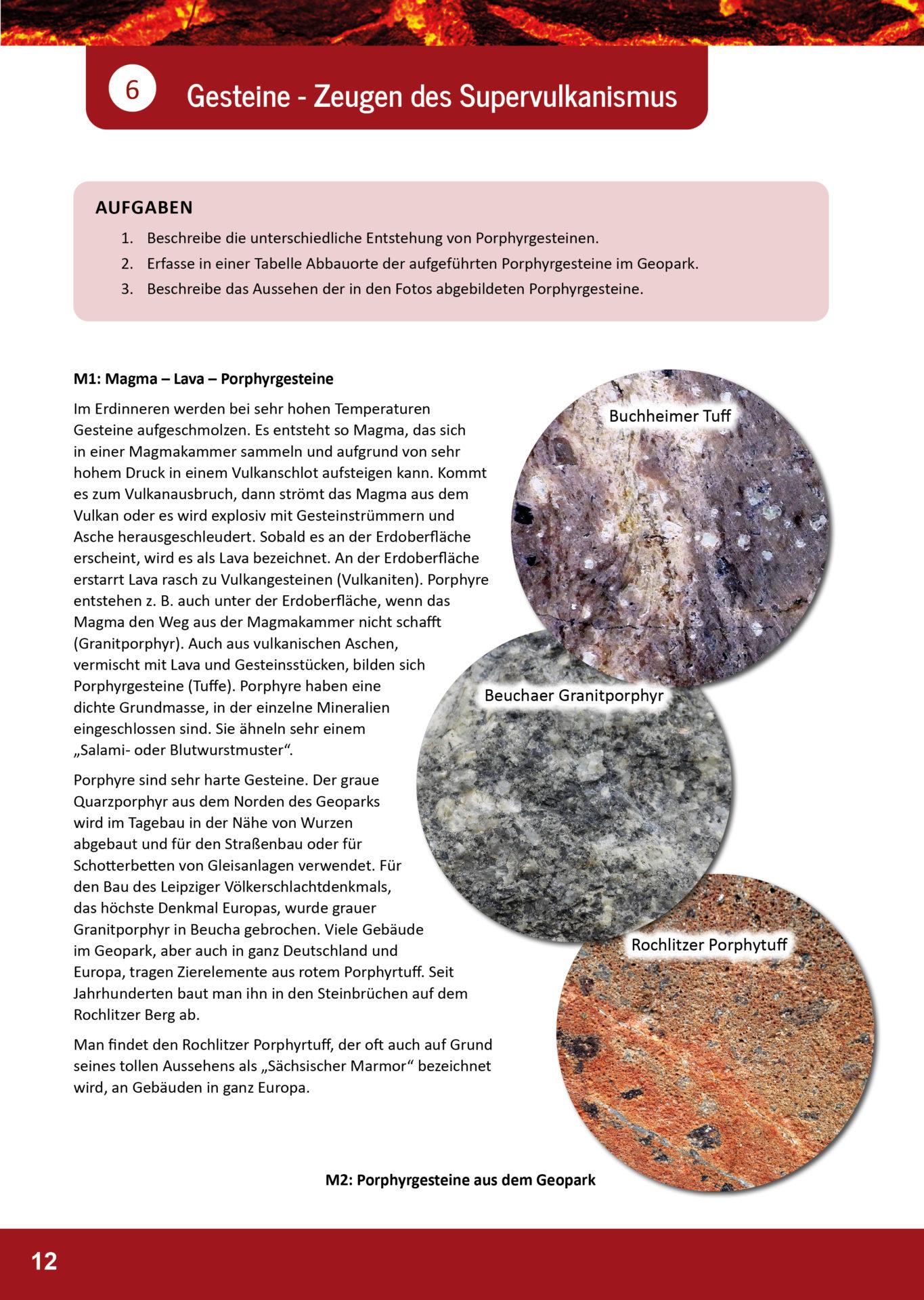 Arbeitsblatt Geopark Porphyrland 6