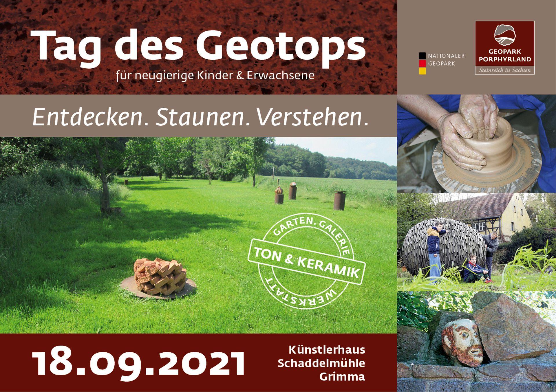 """Tag des Geotops 22021 im Geoportal """"Erden der Keramik"""" in der Schaddelmühle"""